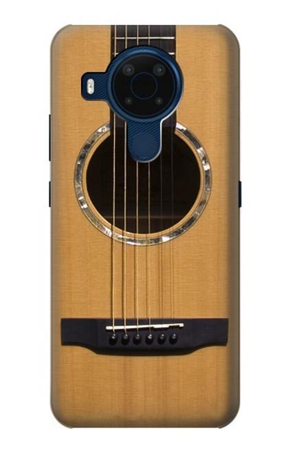 W0057 Acoustic Guitar Funda Carcasa Case y Caso Del Tirón Funda para Nokia 5.4