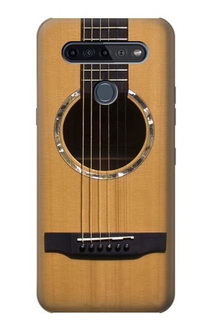 W0057 Acoustic Guitar Funda Carcasa Case y Caso Del Tirón Funda para LG K51S
