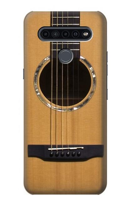 W0057 Acoustic Guitar Funda Carcasa Case y Caso Del Tirón Funda para LG K41S