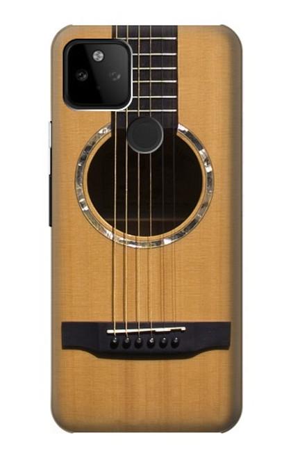 W0057 Acoustic Guitar Funda Carcasa Case y Caso Del Tirón Funda para Google Pixel 5A 5G