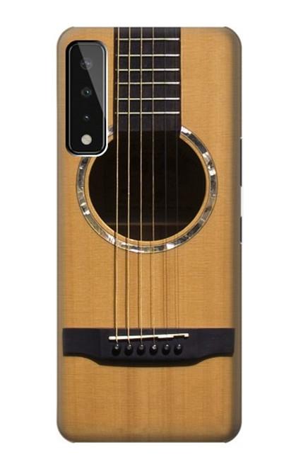 W0057 Acoustic Guitar Funda Carcasa Case y Caso Del Tirón Funda para LG Stylo 7 4G