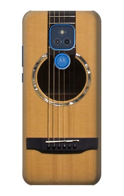 W0057 Acoustic Guitar Funda Carcasa Case y Caso Del Tirón Funda para Motorola Moto G Play (2021)