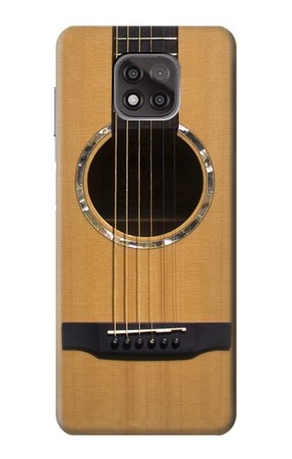 W0057 Acoustic Guitar Funda Carcasa Case y Caso Del Tirón Funda para Motorola Moto G Power (2021)