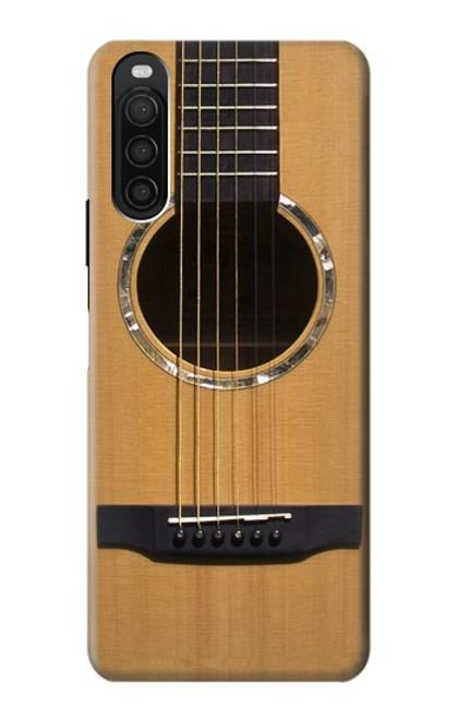 W0057 Acoustic Guitar Funda Carcasa Case y Caso Del Tirón Funda para Sony Xperia 10 III