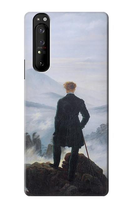 W3789 Wanderer above the Sea of Fog Funda Carcasa Case y Caso Del Tirón Funda para Sony Xperia 1 III
