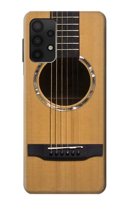 W0057 Acoustic Guitar Funda Carcasa Case y Caso Del Tirón Funda para Samsung Galaxy A32 4G