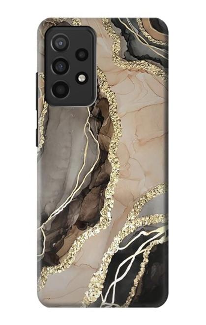 W3700 Marble Gold Graphic Printed Funda Carcasa Case y Caso Del Tirón Funda para Samsung Galaxy A52, Galaxy A52 5G