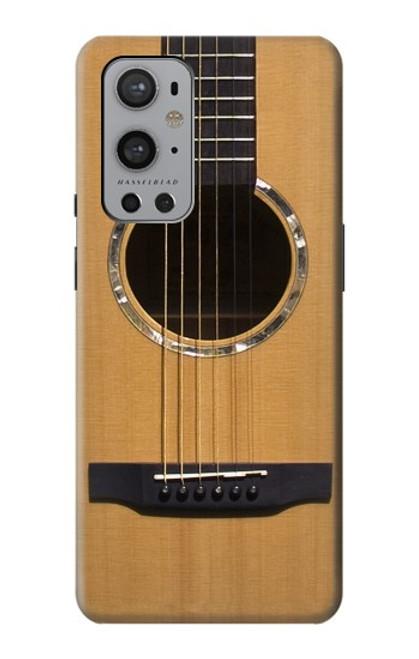 W0057 Acoustic Guitar Funda Carcasa Case y Caso Del Tirón Funda para OnePlus 9 Pro