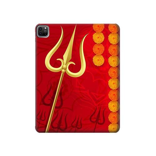 W3788 Shiv Trishul Funda Carcasa Case para iPad Pro 12.9 (2021)