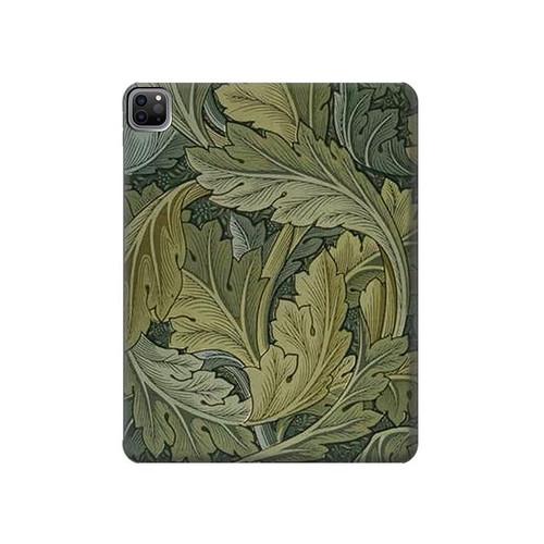 W3790 William Morris Acanthus Leaves Funda Carcasa Case para iPad Pro 12.9 (2021)