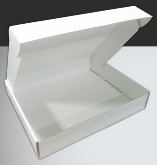 Roll End Tuck Front Mailer Box Tripple Wall Flute-ABE White Base Plain
