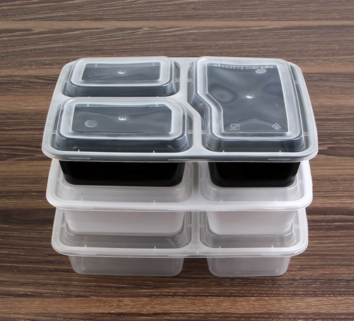 3-COMPARTMENT PLASTIC RECTANGULAR TAKEAWAY CONTAINER 1000ML (LID-3CMP-CL-RT2-225x175)