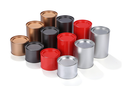 FROSTED 2-PIECE TIN ROUND BOX (CV3)