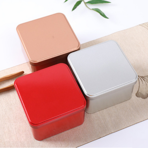 FROSTED 2-PIECE TIN SQUARE BOX (CV2)