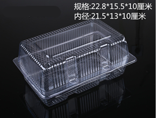 CLEAR PLASTIC DISPOSABLE BOX (G2)