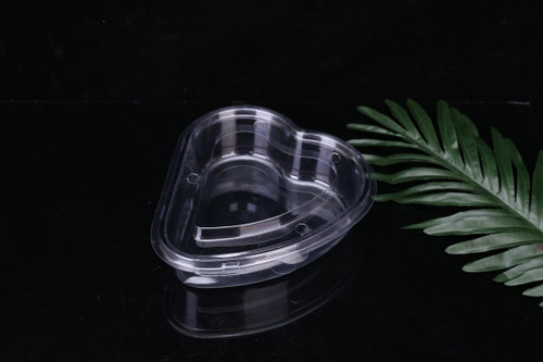 CLEAR PLASTIC HEART SHAPED DISPOSABLE BOX (HRT1-190x180x55)