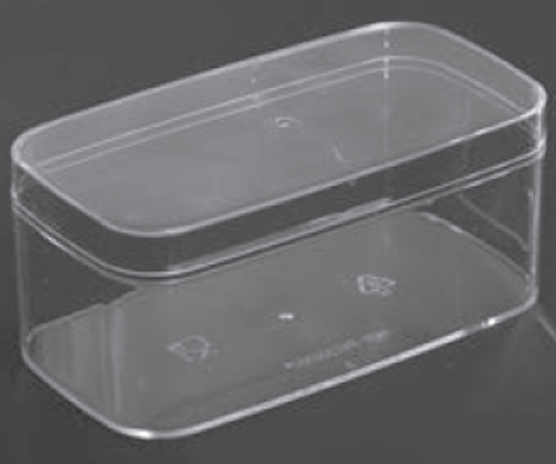 CLEAR RECTANGLE PLASTIC CONTAINER 280ML/ 300ML (RPC2)