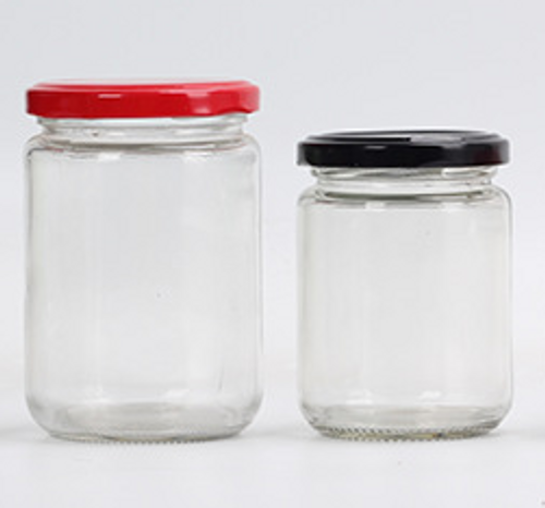 CLEAR WIDE MOUTH GLASS ROUND BOTTOM JAR 240ML/ 350ML (RB1-LC-RG-LC01-62/66)
