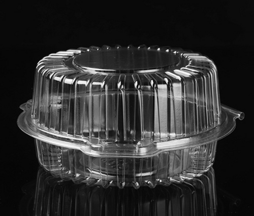 CLEAR PLASTIC LOCKABLE ROUND CAKE BOX (RPC4)