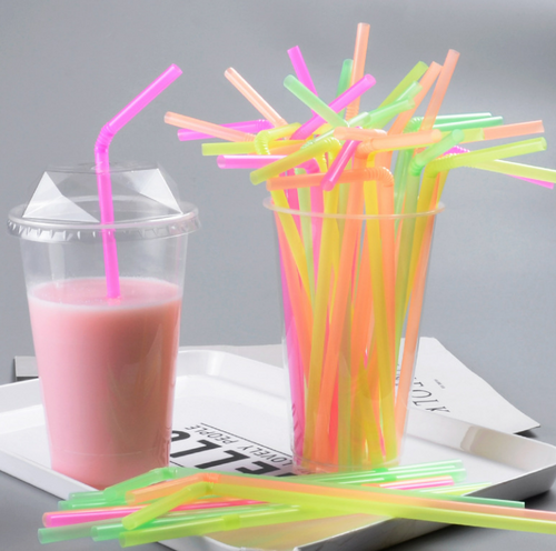 COLOURED PP DISPOSABLE FLEXIBLE STRAW