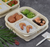 BEIGE 3/4/5-COMPARTMENT BIODEGRADABLE RECTANGLE LUNCH BOX (BDB 7) LID