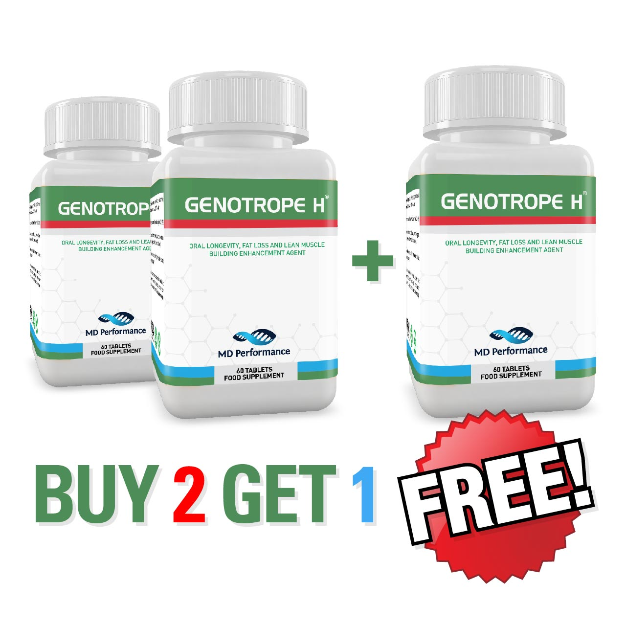 Genotrope H* - Buy Two Get One Free