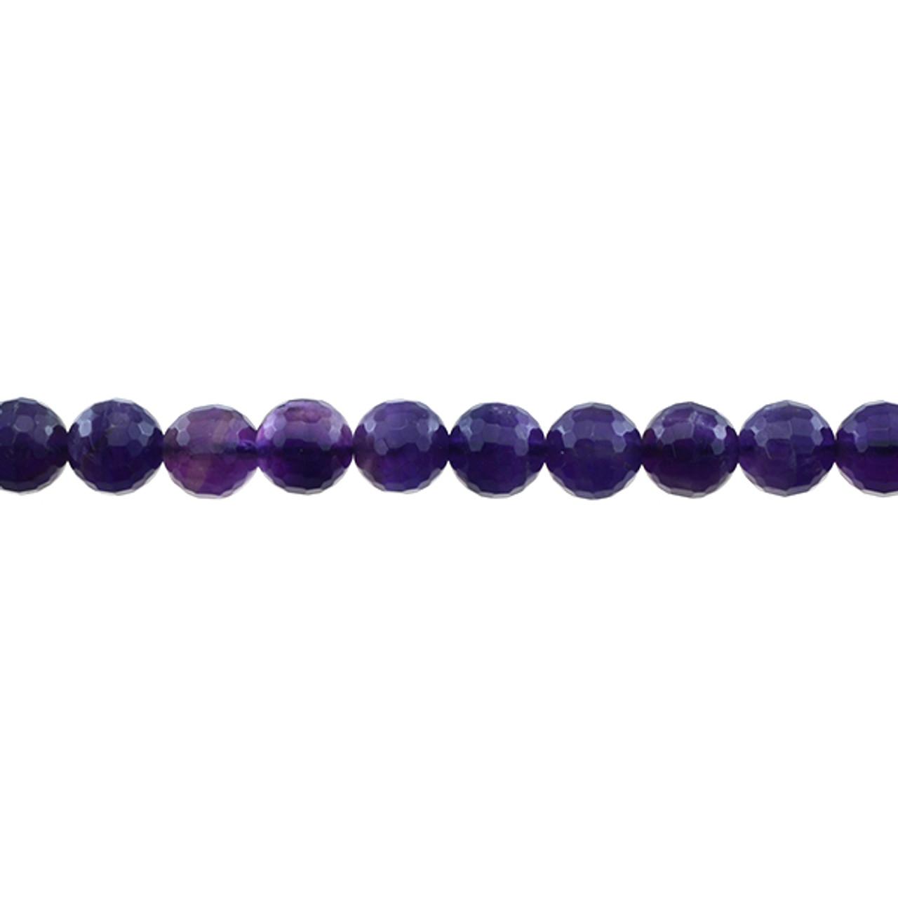 Natural Genuine Dark Purple Amethyst Hand Cut Loose Gemstone Faceted Rondelle Beads  16