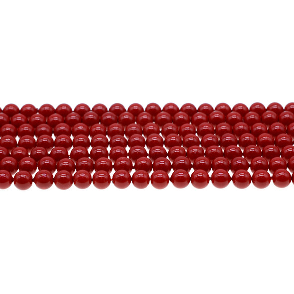 Shell Pearl Red Round 6mm - Loose Beads