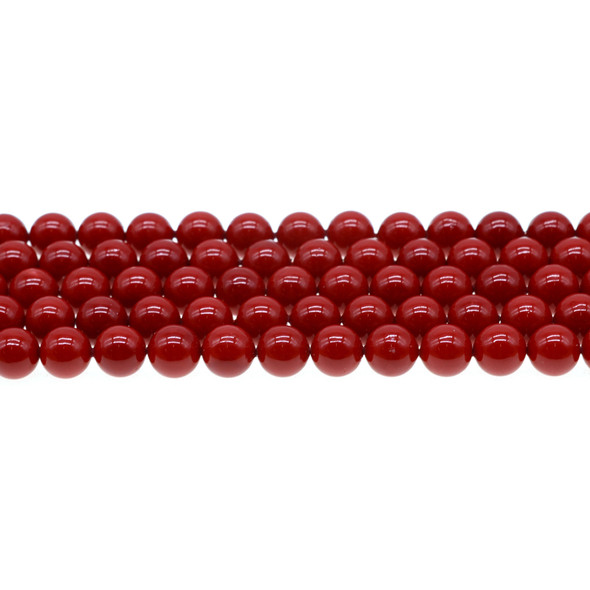 Shell Pearl Red Round 8mm - Loose Beads