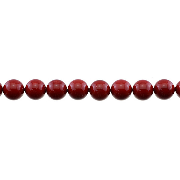 Shell Pearl Red Round 10mm - Loose Beads