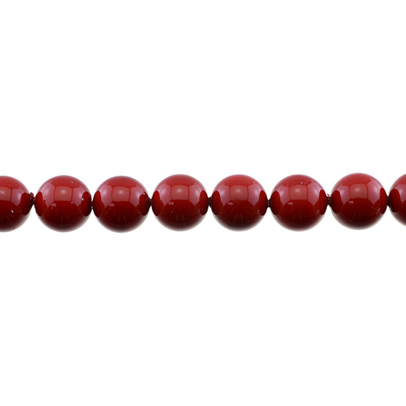 Shell Pearl Red Round 12mm - Loose Beads