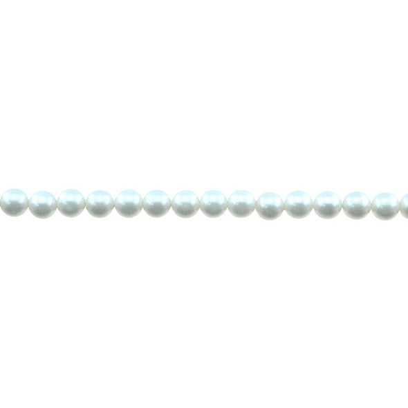 Shell Pearl South Sea White Round 6mm - Loose Beads