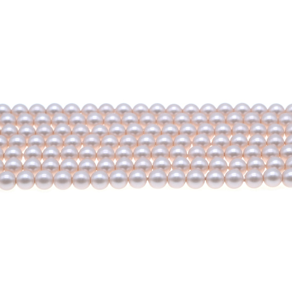 Shell Pearl South Sea Light Pink Round 6mm - Loose Beads