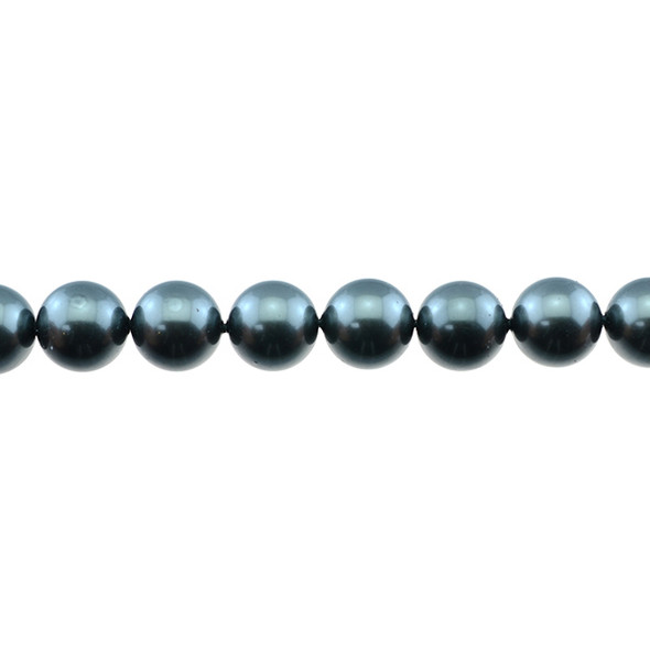 Shell Pearl South Sea Dark Grey Round 12mm - Loose Beads