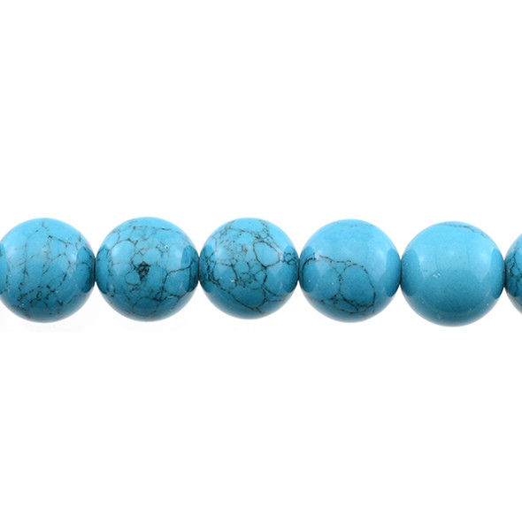 Blue Stabilizedd Turquoise Round 14mm - Loose Beads