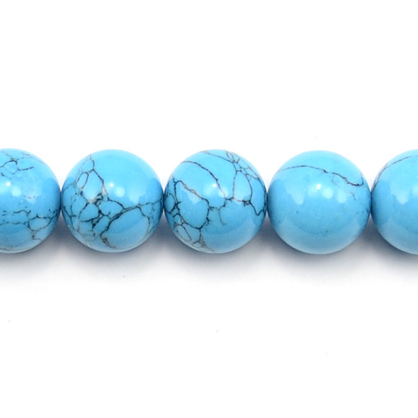 Blue Stabilized Turquoise Round 18mm - Loose Beads