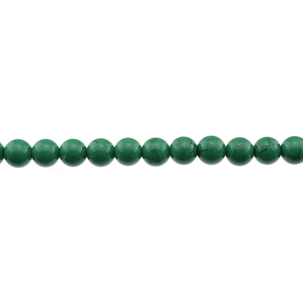 Green Stabilized Turquoise Round 8mm - Loose Beads