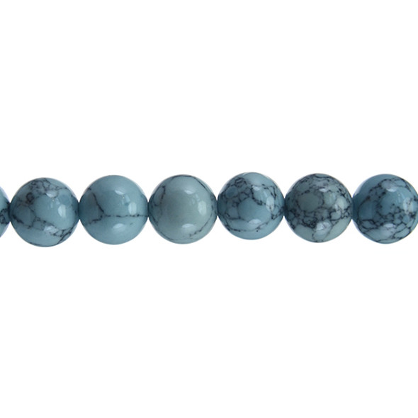 Lite Blue Stabilized Turquoise Round 12mm - Loose Beads