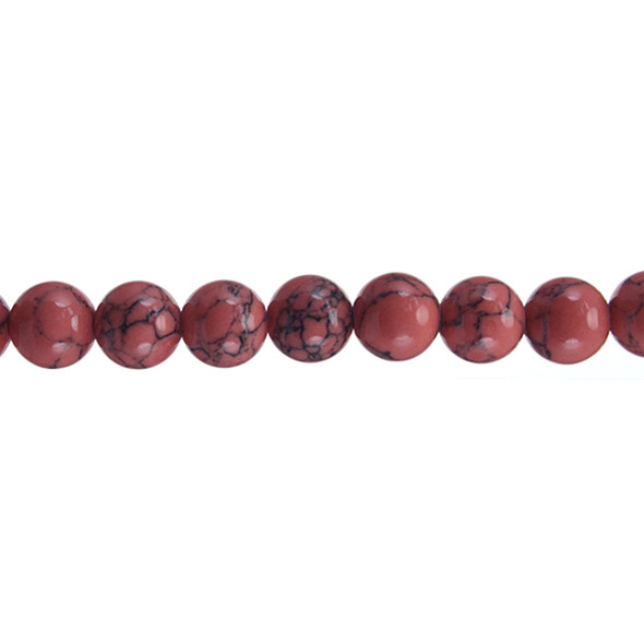 Rose Stabilized Turquoise Round 10mm - Loose Beads