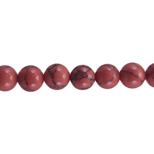 Rose Stabilized Turquoise Round 12mm - Loose Beads