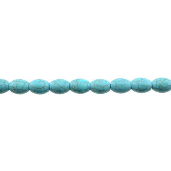 Stabilized Turquoise Barrel 8mm x 8mm x 10mm - Loose Beads
