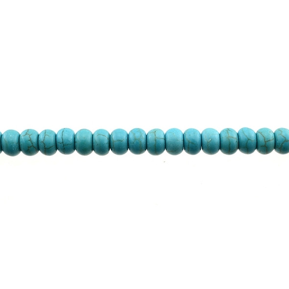 Stabilized Turquoise Roundel 8mm x 8mm x 5mm - Loose Beads
