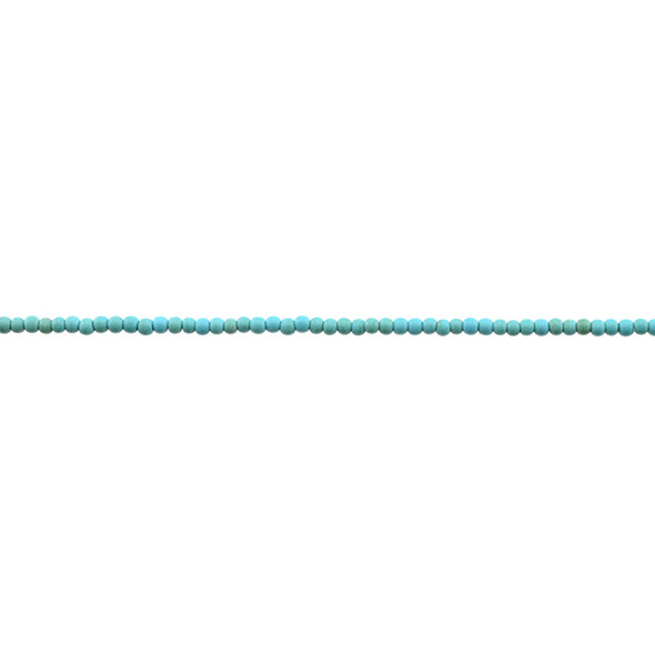 Stabilized Turquoise Round 2mm - Loose Beads