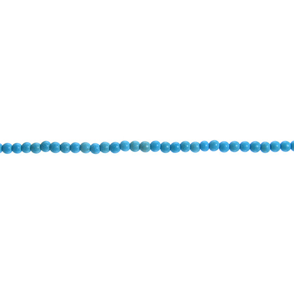 Stabilized Turquoise Round 3mm - Loose Beads