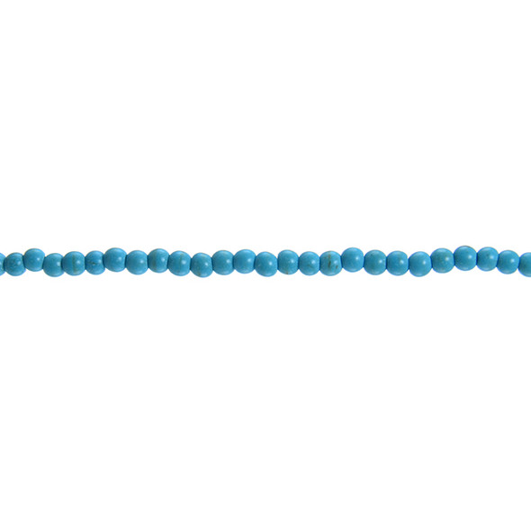 Stabilized Turquoise Round 4mm - Loose Beads