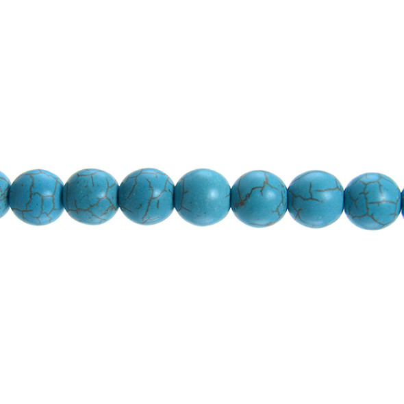 Stabilized Turquoise Round 12mm - Loose Beads