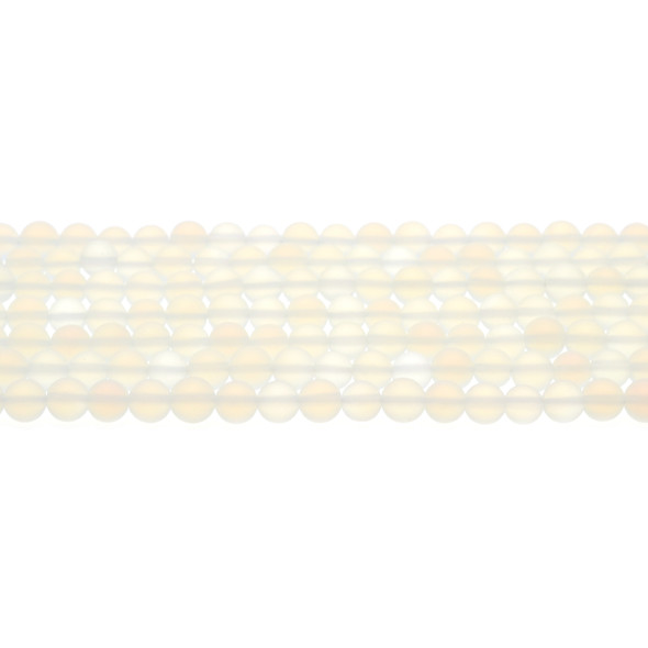 Opalite Round Frosted 6mm - Loose Beads