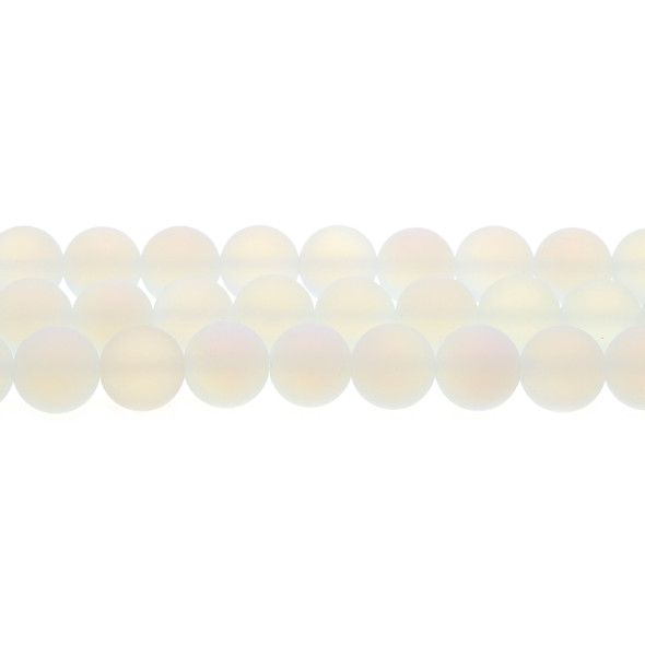 Opalite Round Frosted 12mm - Loose Beads