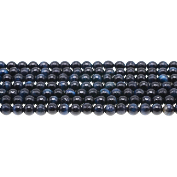 Blue Tiger Eye A Round 6mm - Loose Beads