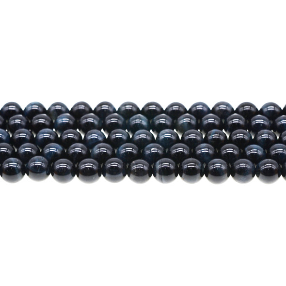 Blue Tiger Eye A Round 8mm - Loose Beads